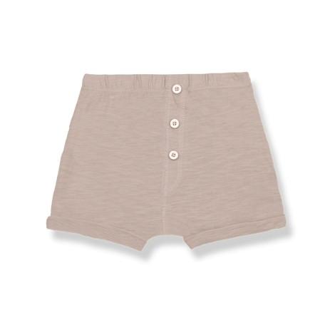 Pantalón bermuda bebé TOMMASO bolsillos en ARCILLA