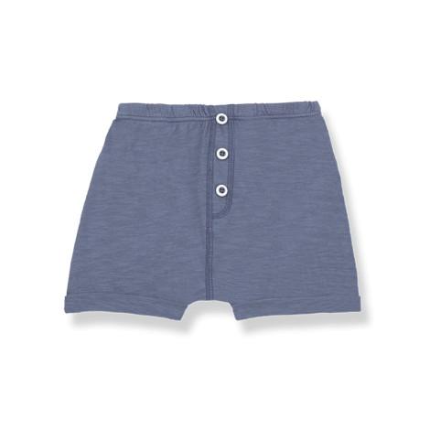 Pantalón bermuda bebé TOMMASO bolsillos en INDIGO