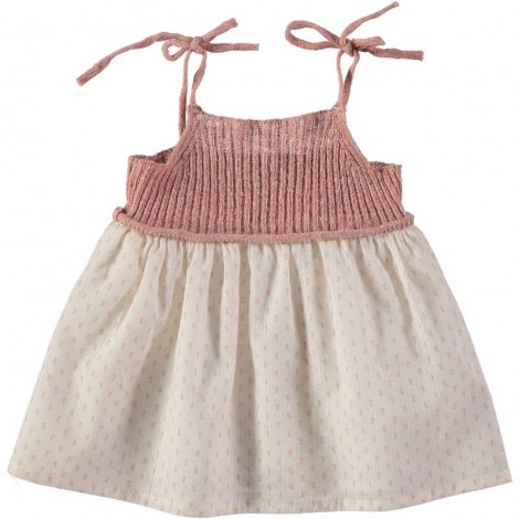Vestido bebé BERTA KNITT & VOILE en ROSE