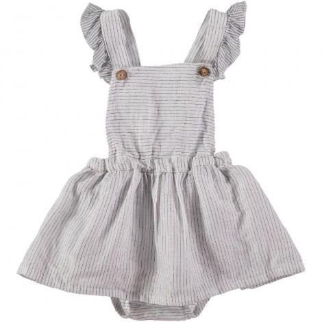 Vestido body bebé ELISE rayitas en ECRU