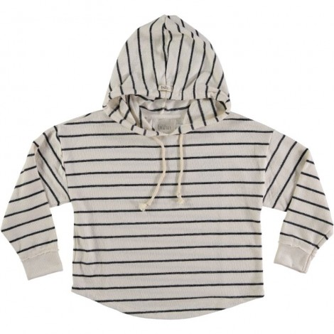 Jersey infantil capucha WILLY rayas en NAVY STRIPE