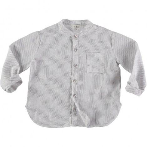 Camisa mao niño HARVEY rayitas en ECRU
