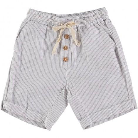 Pantalón corto niño SIMON rayitas en ECRU