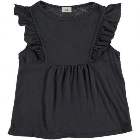 Camiseta blusa niña CLAIRE volantes en NUIT
