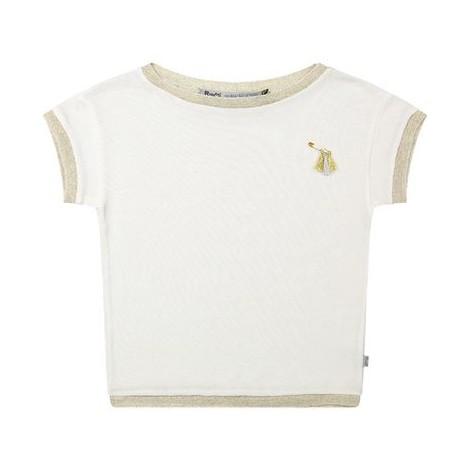Camiseta top fantasía niña en punto con dorados