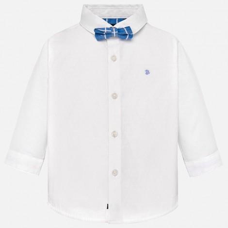 Camisa bebé m/l vestir pajarita color Blanco