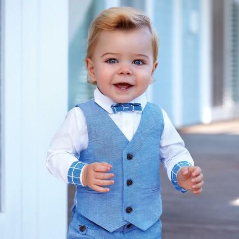 Chaleco bebé lino vestir color Lavanda