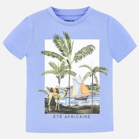 Camiseta niño m/c palmeras color Lavanda