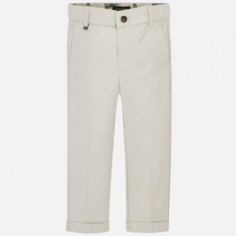 Pantalón niño lino tailoring color Piedra