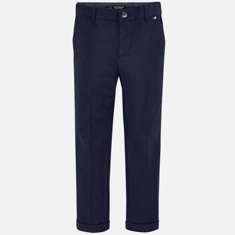 Pantalón vestir niño lino color Ultramar
