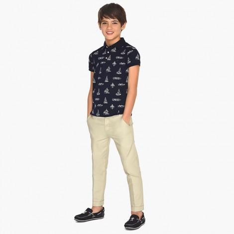 Pantalón vestir niño lino color Piedra