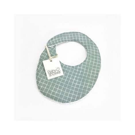 Babero MINT GRID de BabyShower