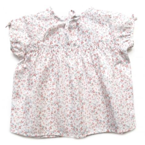 Camisa JANE de bebé Flores rosas Normandie