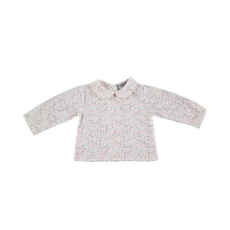 Camisa BUBU de bebé Flores rosas Normandie