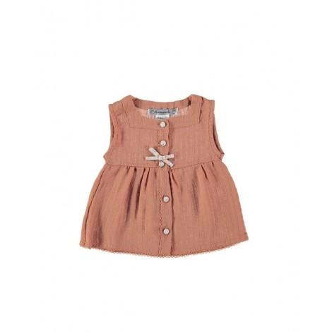 Camisa CARMEN de bebé Coral Normandie