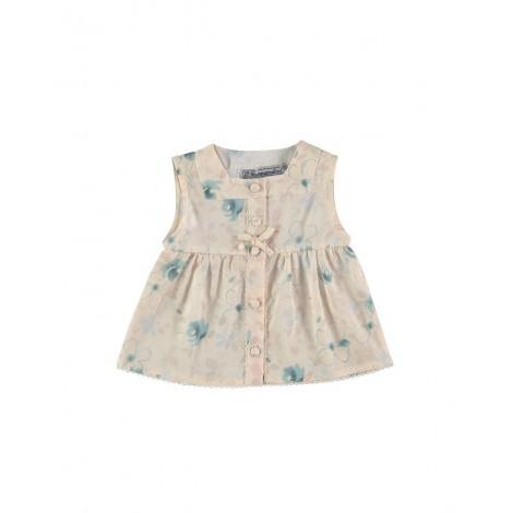 Camisa CARMEN de bebé Flores verdes Normandie