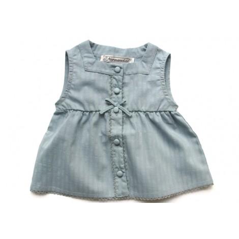 Camisa CARMEN de bebé Turquesa Normandie