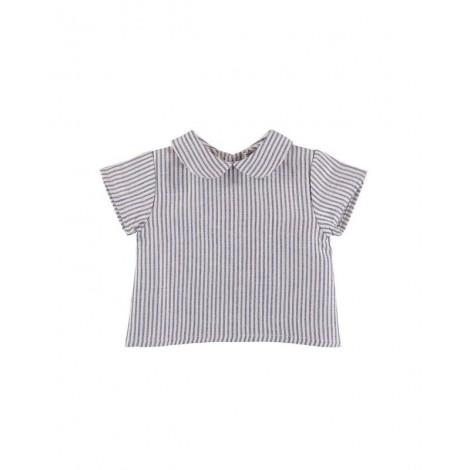 Camisa BALTICO de bebé Rayas Azules Normandie