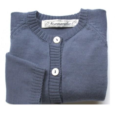 Jersey Munsen de bebé Azul Oscuro Normandie