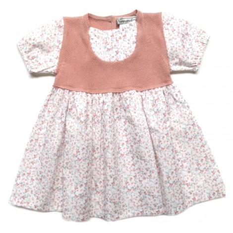 Vestido EDIT de bebé Rosa Normandie