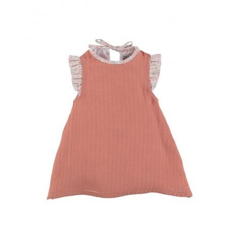 Vestido CAROLINE de bebé Coral Normandie