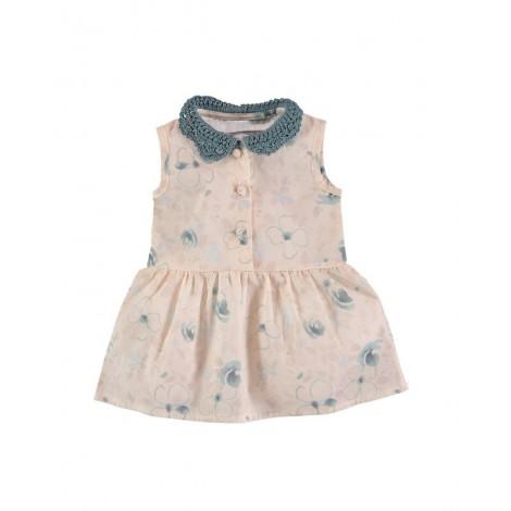 Vestido LIZA de bebé Flores verdes Normandie