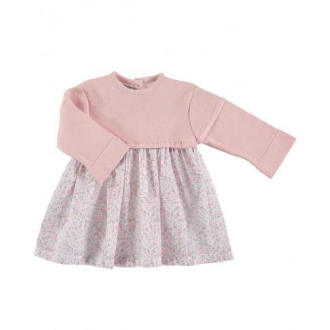 Vestido ISADORA de bebé Rosa Palo Normandie