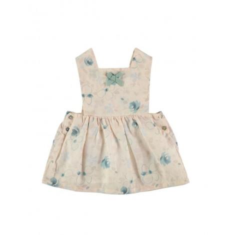 Vestido EVELYN de bebé Flores verdes Normandie