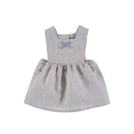 Vestido EVELYN de bebé Rayas Azules Normandie