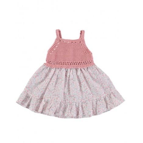 Vestido CROCHET SILVIE de bebé Rosa Normandie