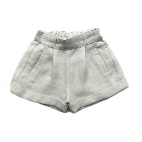 Pantalón AZNAVOUR lino de bebé Piedra Normandie