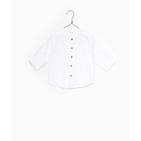 Camisa MAO niño en lino WHITE