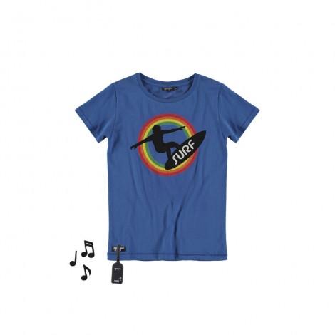 Camiseta infantil sonido M/C SURF azul eléctrico