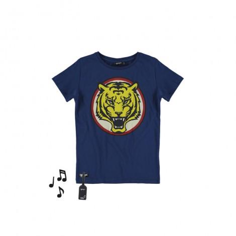 Camiseta infantil sonido M/C TIGER azul