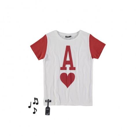 Camiseta infantil sonido M/C LOVE blanca