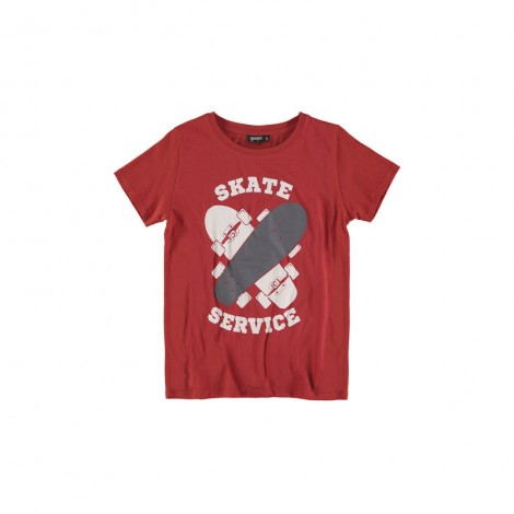 Camiseta infantil texturas M/C SKATES roja