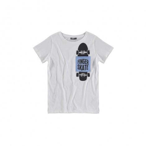 Camiseta infantil happy pocket M/C SKATE blanca