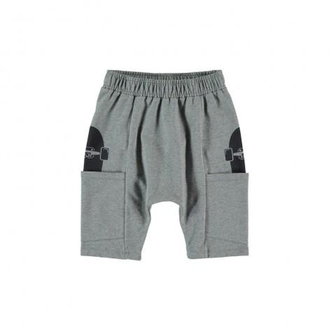 Pantalón short infantil SKATE POCKET gris vigoré