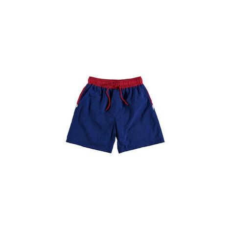 Bañador niño bóxer SHARK azul y rojo