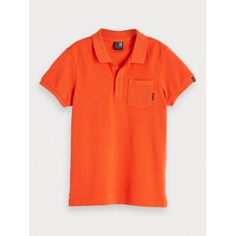 Polo niño naranja tintado en prenda