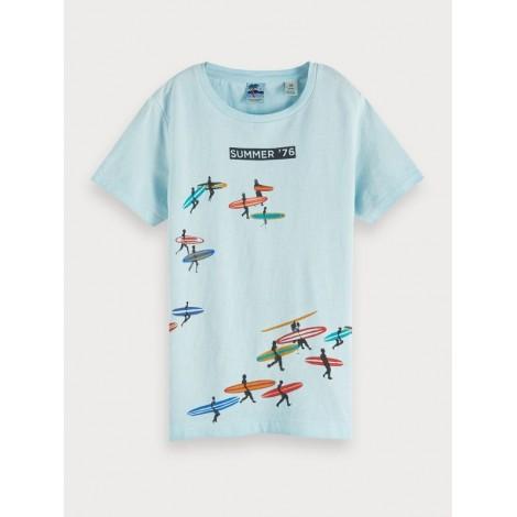Camiseta niño gastada sufres azul cielo