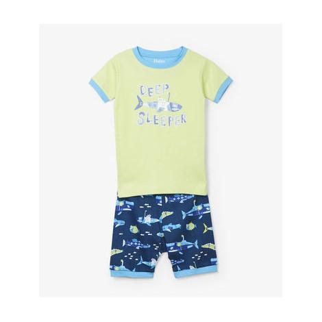 Pijama niño SUBMARINOS fluorescentes 2 piezas M/C