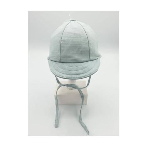 Gorra bebé con visera BEISBOL de punto aqua