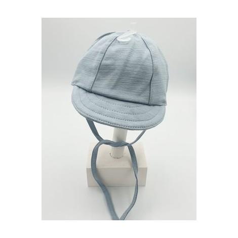 Gorra bebé con visera azul BEISBOL de punto