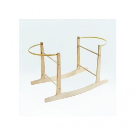 Soporte balancín de madera para capazo de mimbre ÚNICO UNICA