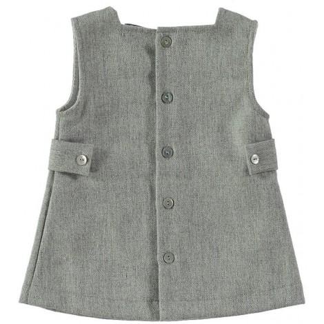 Vestido bebé ASTRID gris Normandie