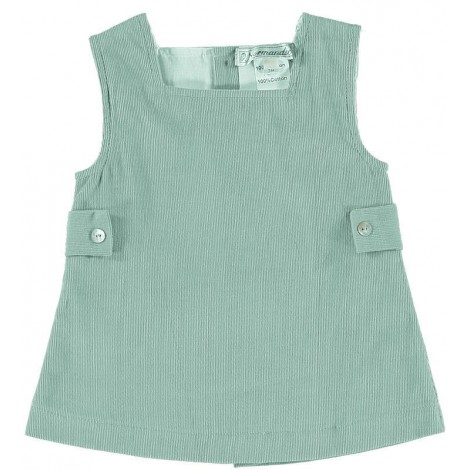 Vestido bebé ASTRID micropana verde Normandie
