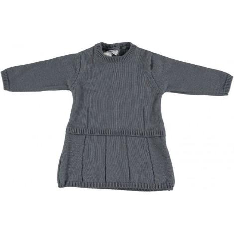 Vestido bebé KLARA en lana lazo Normandie