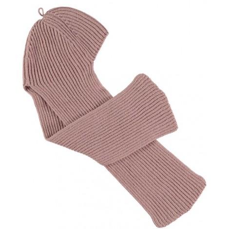 Gorro bufanda bebé en rosa Normandie