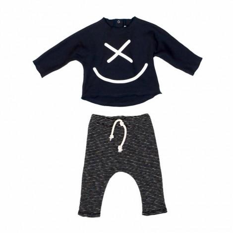 Conjunto camiseta y pantalón ROBINSON bebé en BLACK